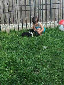 Zoey with Mr. Iggy